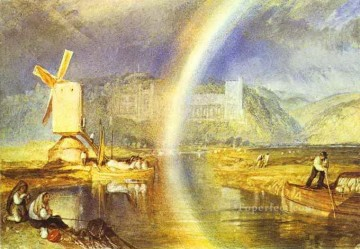 Arundel Castle with Rainbow Turner Oil Paintings