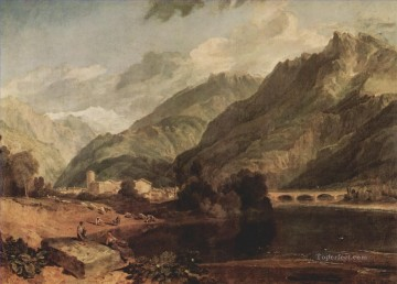 Joseph Mallord William Turner Painting - Bonneville Savoy with Mont Blanc Turner