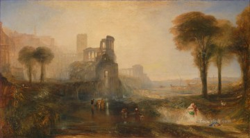 Caligula Palace and Bridge Turner Oil Paintings