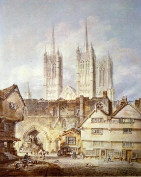 romantic romantism Painting - Cathedral Church at Lincoln Romantic Turner