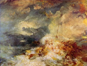 Turner Art - Fire at Sea Turner