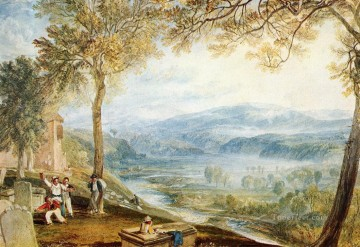 Joseph Mallord William Turner Painting - Kirby Londsale Churchyard Romantic Turner