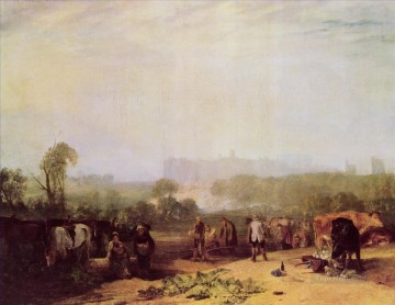 Ploughing up Turnips near Slough Turner Oil Paintings