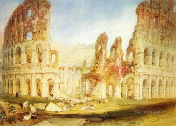 Joseph Mallord William Turner Painting - Rome The Colosseum Romantic Turner
