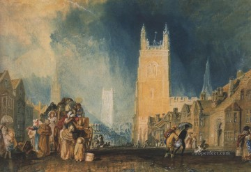Joseph Mallord William Turner Painting - Stamford Lincolnshire Romantic Turner