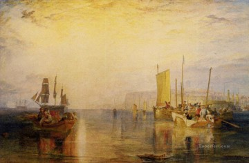 romantic romantism Painting - Sunrise Whiting Fishing at Margate Romantic Turner