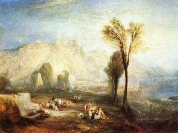 Turner Art - The Bright Stone of Honor Ehrenbrietstein and the Tomb of Marceau landscape Turner
