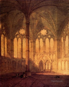 The Chapter House Salisbury Cathedral Romantic Turner Oil Paintings