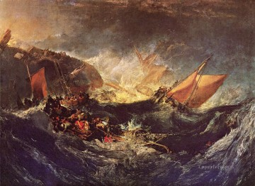 The Wreck of a Transport Ship Romantic Turner Oil Paintings