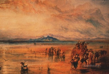 Joseph Mallord William Turner Painting - Lancaster Sands Romantic Turner