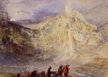 Turner Art - Wilderness A Engedi & Convent of Santa Saba Turner
