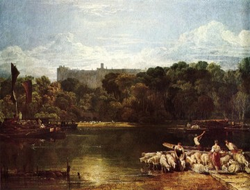 Joseph Mallord William Turner Painting - Windsor Castle from the Thames Romantic Turner
