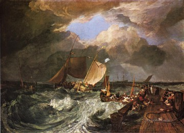 Calais Pier with French Poissards Romantic Turner Oil Paintings