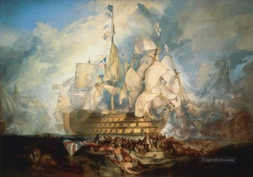 Joseph Mallord William Turner Painting - The Battle of Trafalgar Turner