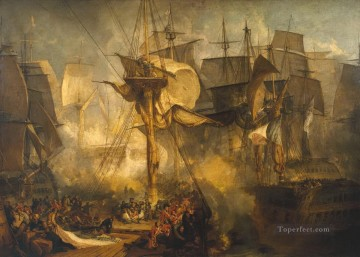 The Battle of Trafalgar as Seen from the Mizen Starboard Shrouds of the Victory Turner Oil Paintings
