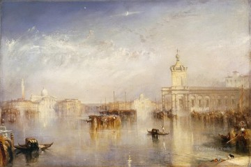 Joseph Mallord William Turner Painting - The Dogana San Giorgio Citella From the Steps of the Europa Turner