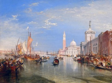 Venice The Dogana and San Giorgio Maggiore Turner Oil Paintings