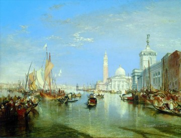 Turner Art - Venice The Dogana and San Giorgio Maggiore blue Turner