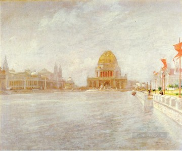 John Henry Twachtman Painting - Court of Honor Worlds Columbian Exposition Impressionist seascape John Henry Twachtman