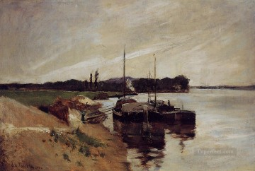John Henry Twachtman Painting - Mouth of the Seine Impressionist seascape John Henry Twachtman