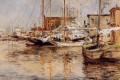 Oyster Boats North River Impressionist seascape John Henry Twachtman