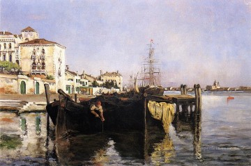 Venice Works - View of Venice Impressionist seascape John Henry Twachtman