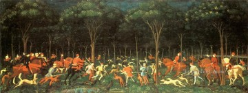 renaissance Painting - The Hunt In The Forest early Renaissance Paolo Uccello