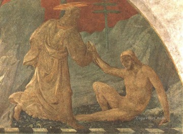 adam Painting - Creation Of Adam early Renaissance Paolo Uccello