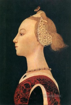 Paolo Canvas - Portrait Of A Lady early Renaissance Paolo Uccello