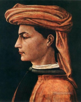 Paolo Canvas - Portrait Of A Young Man early Renaissance Paolo Uccello