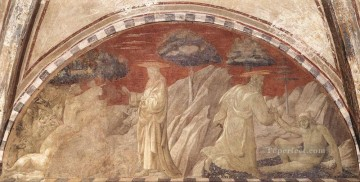 adam Painting - Creation Of The Animals And Creation Of Adam early Renaissance Paolo Uccello