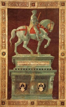 Paolo Canvas - Funerary Monument To Sir John Hawkwood early Renaissance Paolo Uccello