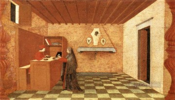 Paolo Canvas - Miracle Of The Desecrated Host Scene 1 early Renaissance Paolo Uccello