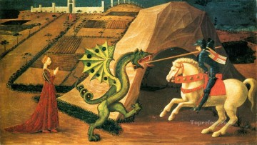 Paolo Canvas - St George And The Dragon 1458 early Renaissance Paolo Uccello