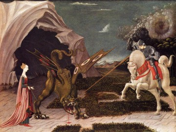 Paolo Canvas - St George And The Dragon early Renaissance Paolo Uccello