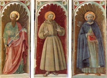 Sts Paul Francis And Jerome early Renaissance Paolo Uccello Oil Paintings