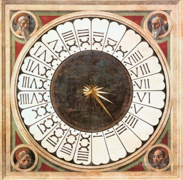 Paolo Canvas - Clock With Heads Of Prophets early Renaissance Paolo Uccello