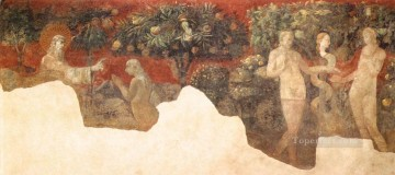renaissance Painting - Creation Of Eve And Original Sin early Renaissance Paolo Uccello