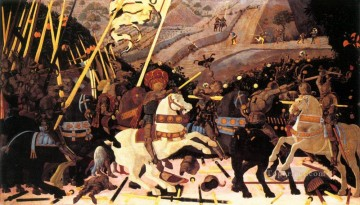 Paolo Canvas - Niccolo da Tolentino Leads The Florentine Troops early Renaissance Paolo Uccello