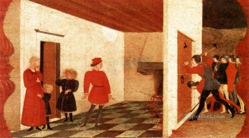 Miracle Of The Desecrated Host Scene 2 early Renaissance Paolo Uccello Oil Paintings
