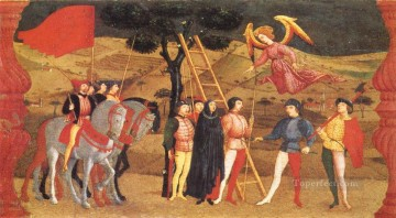 Paolo Canvas - Miracle Of The Desecrated Host Scene 4 early Renaissance Paolo Uccello