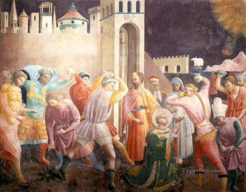 Stoning Of St Stephen early Renaissance Paolo Uccello Oil Paintings