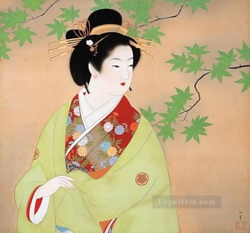 Bijinga 2 Uemura Shoen Bijin ga beautiful women Oil Paintings