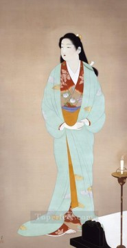 Kinuta Uemura Shoen Bijin ga beautiful women Oil Paintings