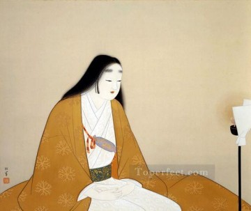 Madame Kusunogi Masashige Uemura Shoen Bijin ga beautiful women Oil Paintings