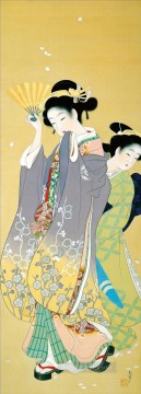 Cherry Blossom Viewing Uemura Shoen Bijin ga beautiful women Oil Paintings