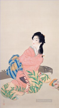 Daughter Miyuki Uemura Shoen Bijin ga beautiful women Oil Paintings