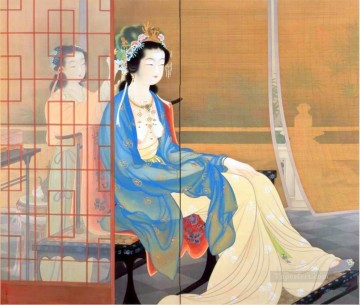 yang gui fei 1922 Uemura Shoen Bijin ga beautiful women Oil Paintings