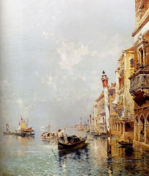 Franz Richard Unterberger Painting - Canale Della Giudecca Venice Franz Richard Unterberger Venice