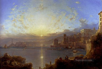 Genoa scenery Franz Richard Unterberger Oil Paintings